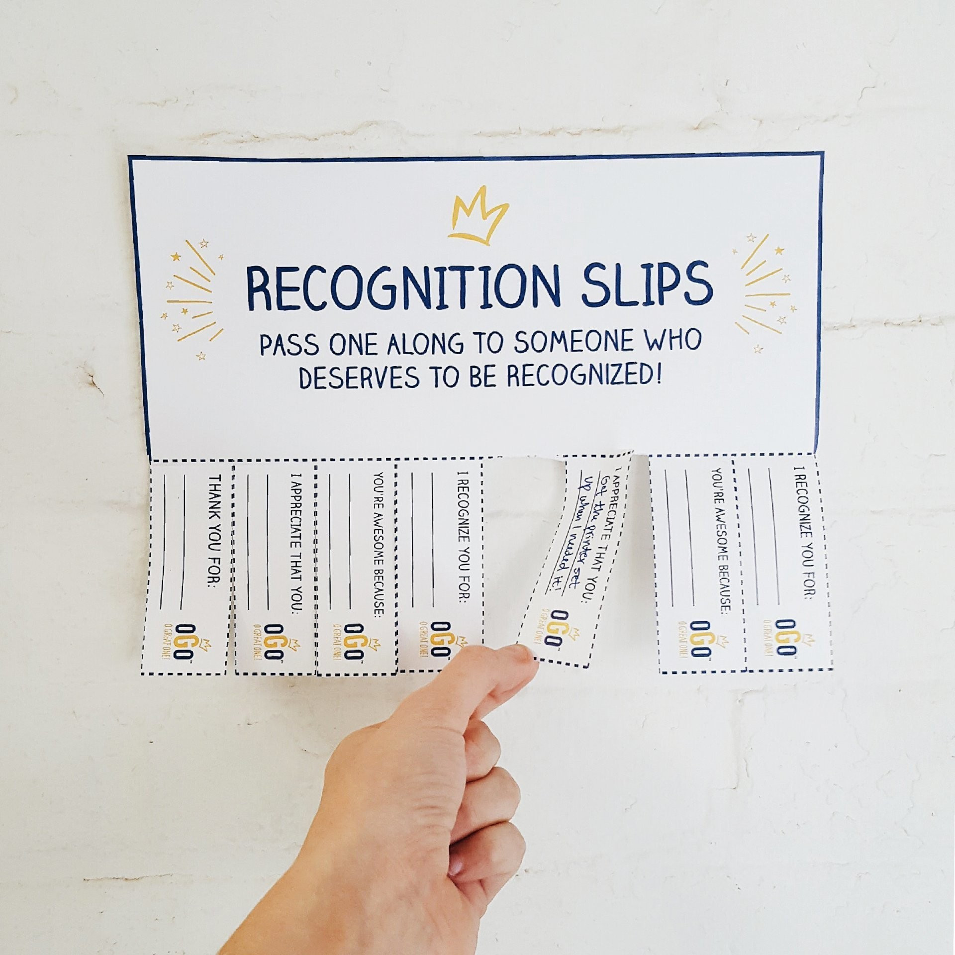 Download OGO Recognition Slips and Pass Them Along